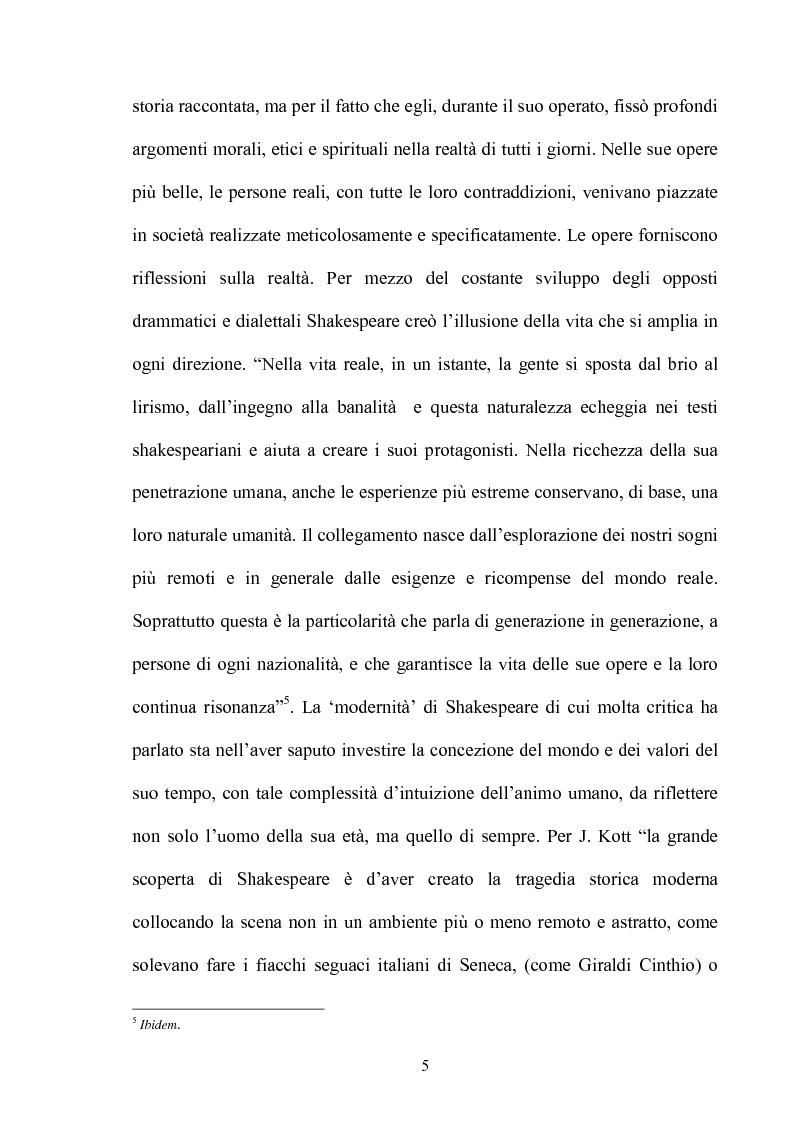 Anteprima della tesi: ''Othello'': dal testo shakespeariano all'immagine cinematografica, Pagina 4