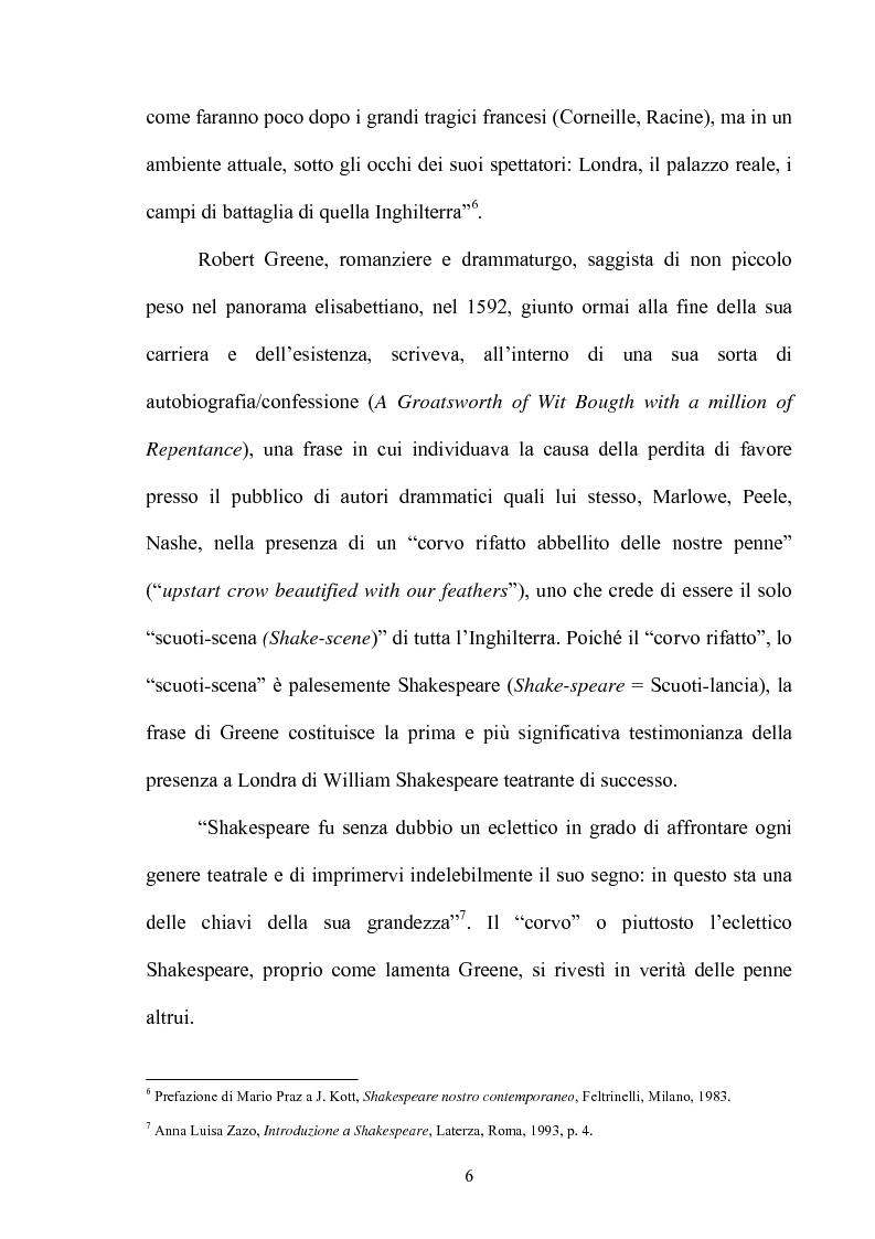 Anteprima della tesi: ''Othello'': dal testo shakespeariano all'immagine cinematografica, Pagina 5