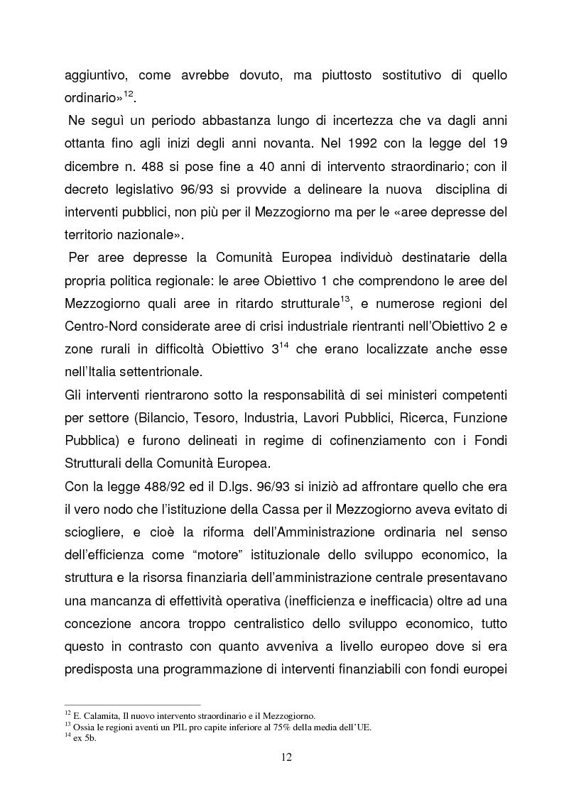 Anteprima della tesi: La Programmazione Territoriale: il caso del Cilento, Pagina 10