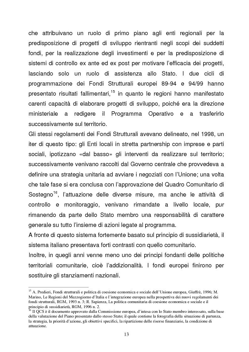 Anteprima della tesi: La Programmazione Territoriale: il caso del Cilento, Pagina 11