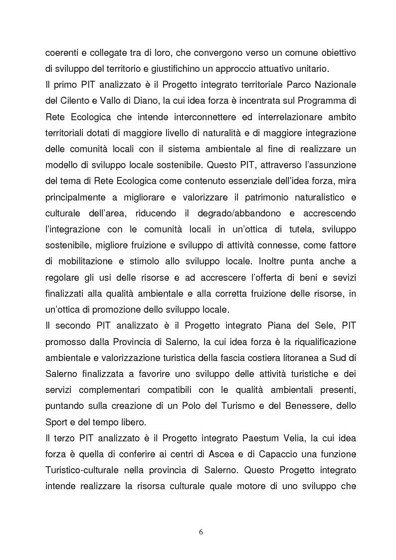 Anteprima della tesi: La Programmazione Territoriale: il caso del Cilento, Pagina 4
