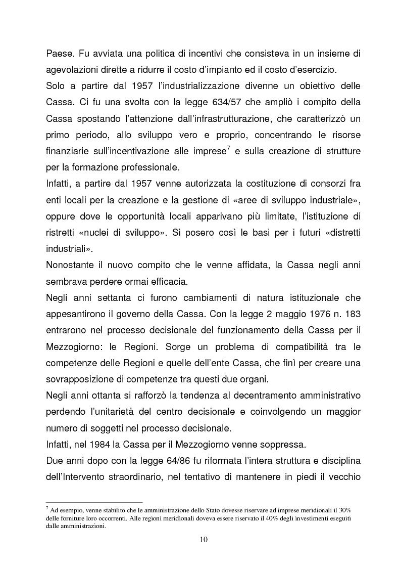 Anteprima della tesi: La Programmazione Territoriale: il caso del Cilento, Pagina 8