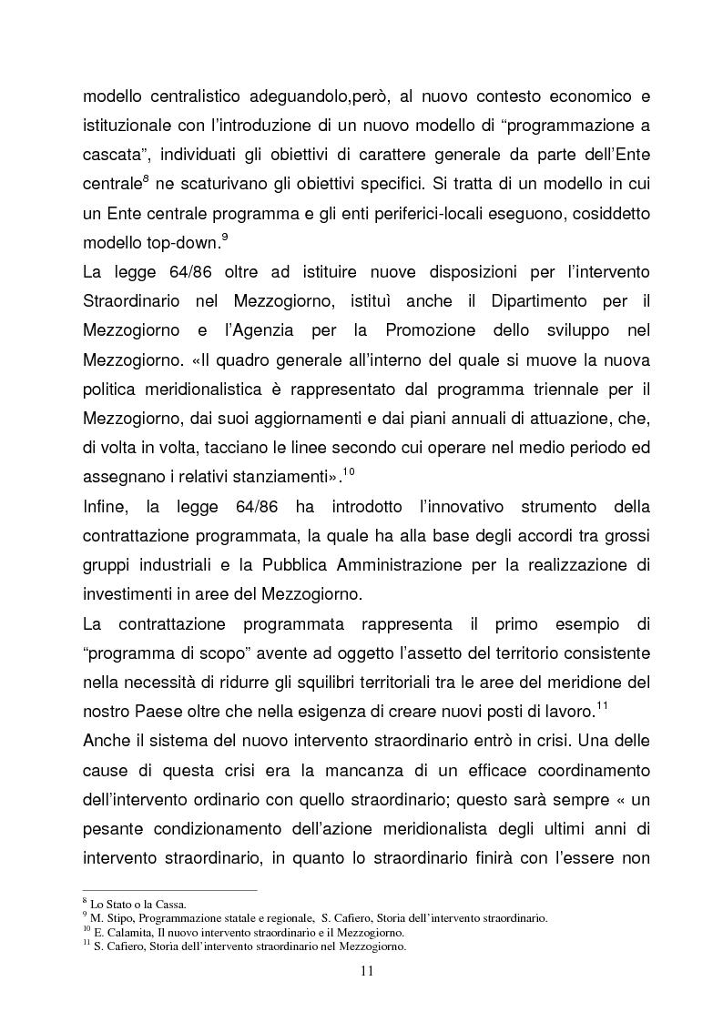 Anteprima della tesi: La Programmazione Territoriale: il caso del Cilento, Pagina 9