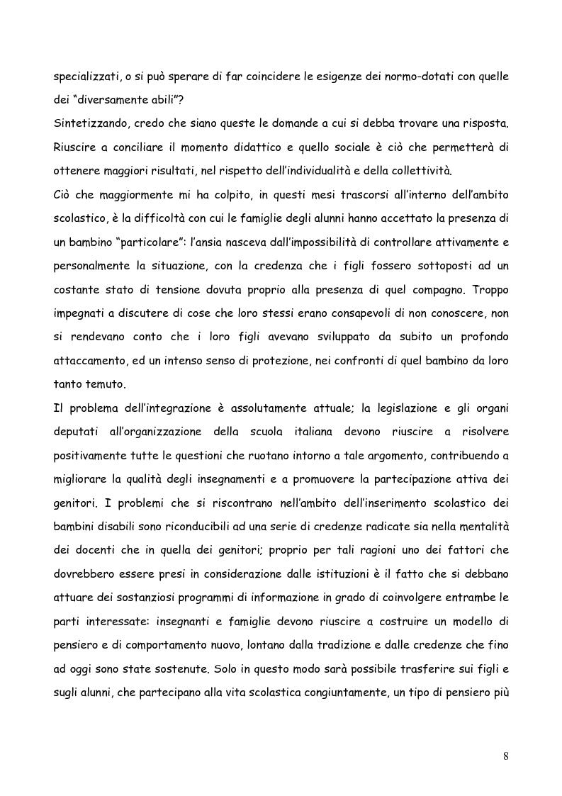 Anteprima della tesi: Bambini autistici inseriti nella scuola primaria: problemi e prospettive, Pagina 4