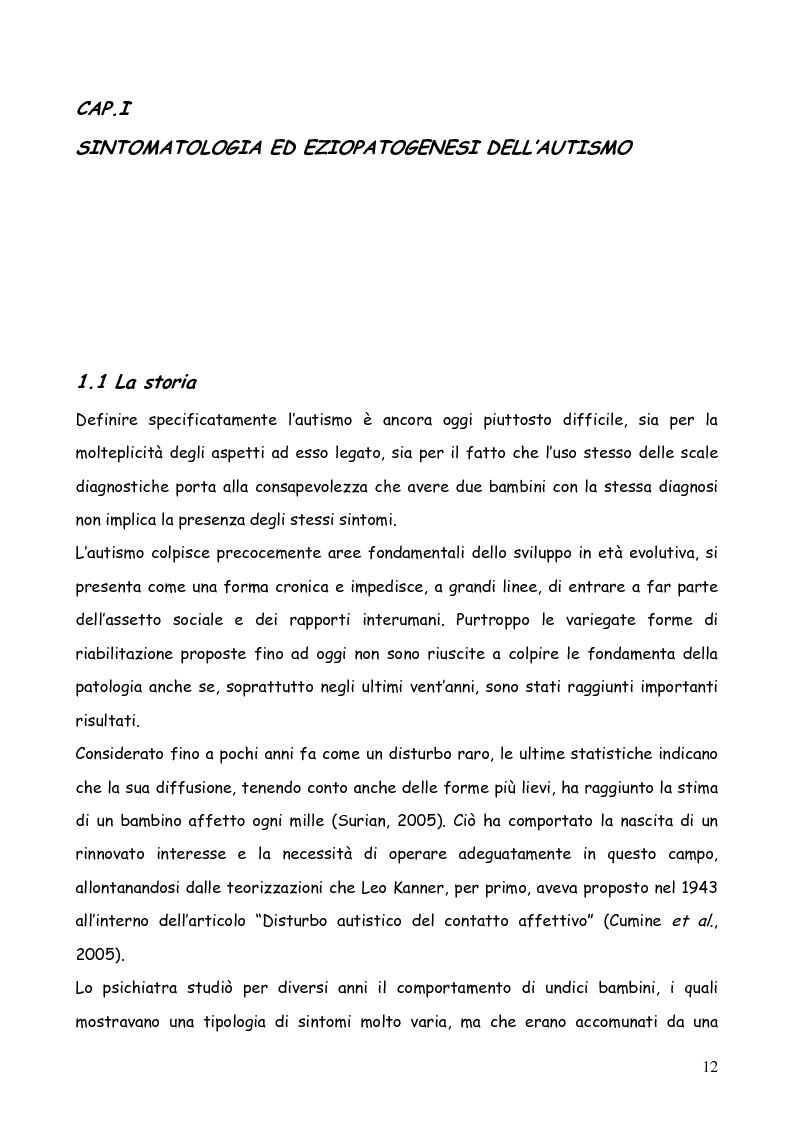 Anteprima della tesi: Bambini autistici inseriti nella scuola primaria: problemi e prospettive, Pagina 8