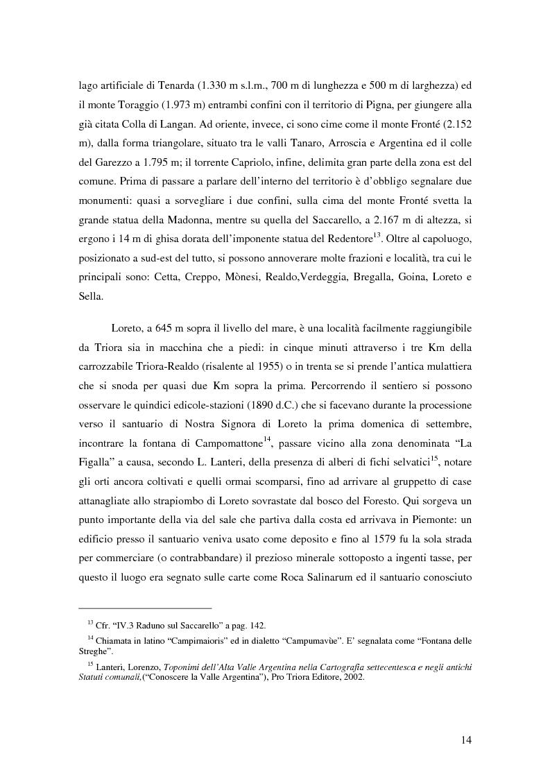 Anteprima della tesi: ''Triora e il Paese delle Streghe'' Vita e mutamenti di un borgo dell'estremo ponente ligure, Pagina 12