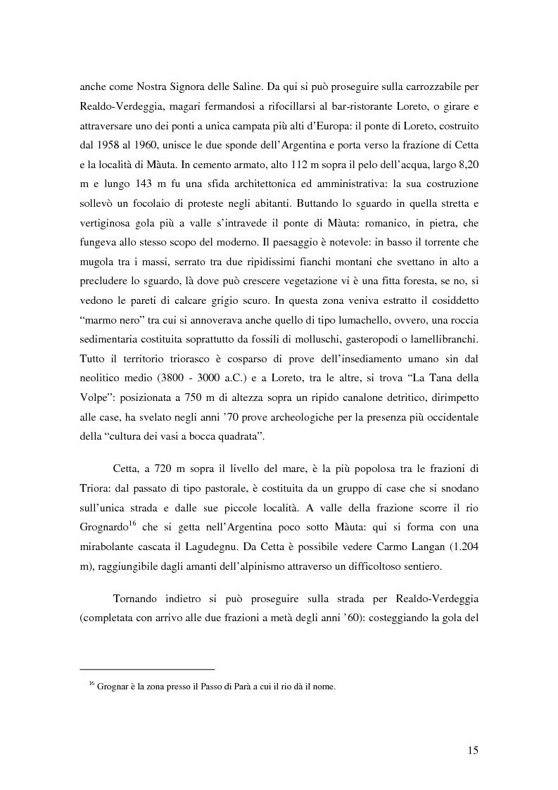 Anteprima della tesi: ''Triora e il Paese delle Streghe'' Vita e mutamenti di un borgo dell'estremo ponente ligure, Pagina 13