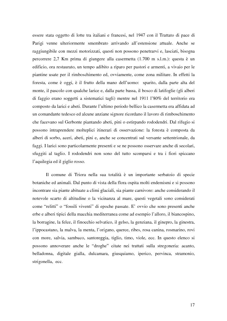 Anteprima della tesi: ''Triora e il Paese delle Streghe'' Vita e mutamenti di un borgo dell'estremo ponente ligure, Pagina 15