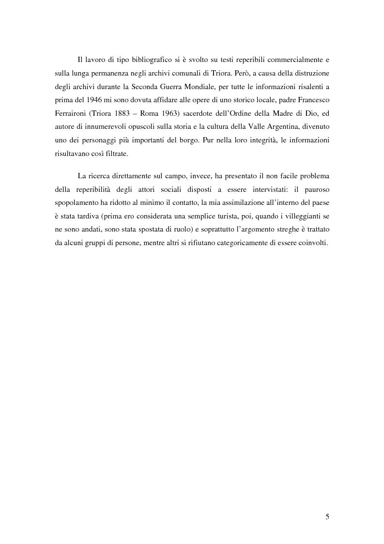Anteprima della tesi: ''Triora e il Paese delle Streghe'' Vita e mutamenti di un borgo dell'estremo ponente ligure, Pagina 3