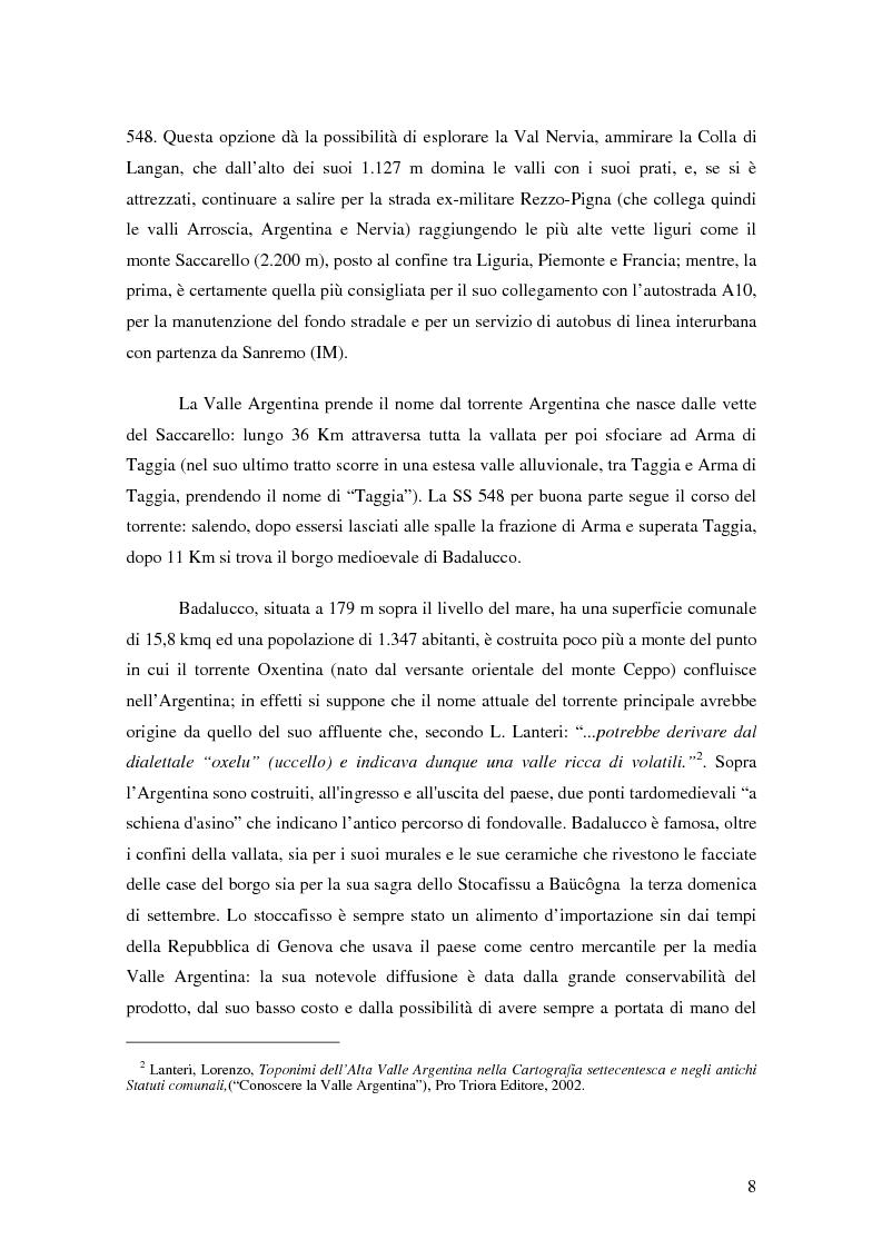 Anteprima della tesi: ''Triora e il Paese delle Streghe'' Vita e mutamenti di un borgo dell'estremo ponente ligure, Pagina 6