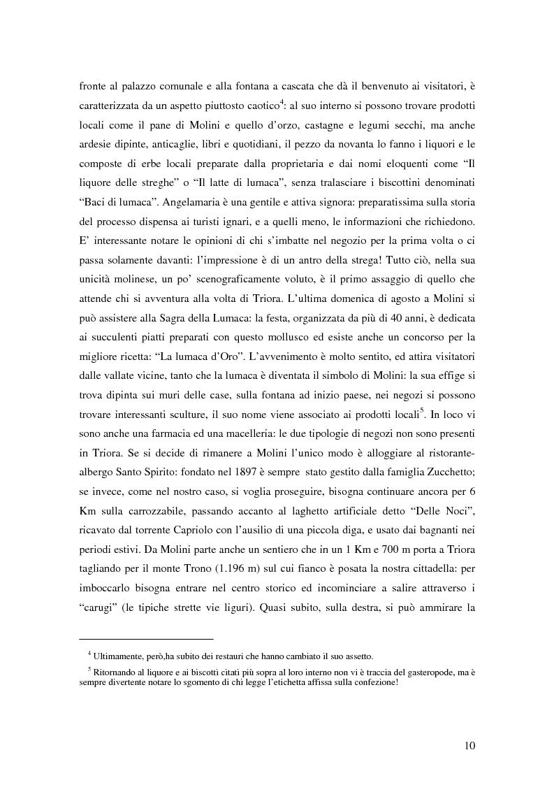 Anteprima della tesi: ''Triora e il Paese delle Streghe'' Vita e mutamenti di un borgo dell'estremo ponente ligure, Pagina 8