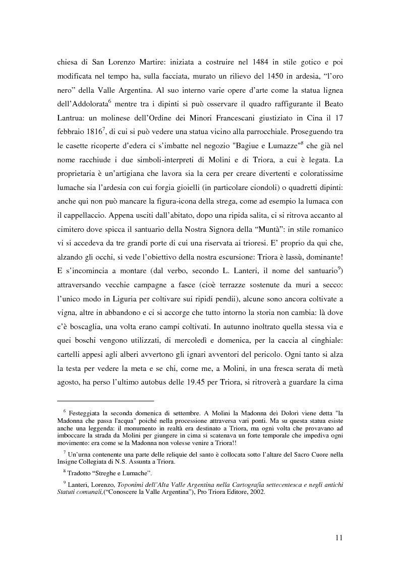 Anteprima della tesi: ''Triora e il Paese delle Streghe'' Vita e mutamenti di un borgo dell'estremo ponente ligure, Pagina 9