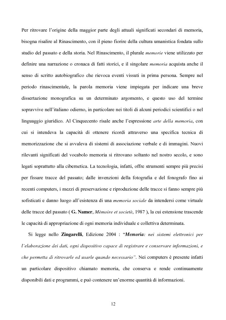 Anteprima della tesi: Memoria: solo virtù, o anche qualche vizio? (Ricerca Sperimentale), Pagina 7