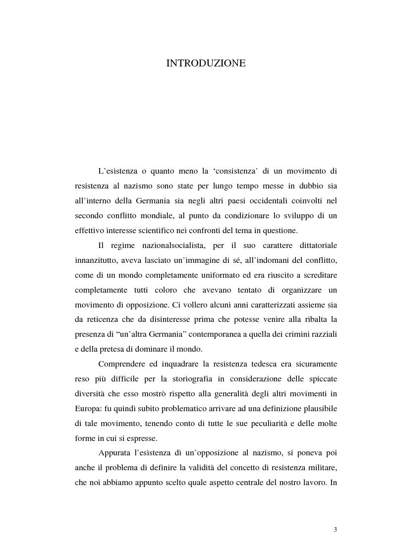 Anteprima della tesi: La resistenza militare al nazismo nella storiografia tedesca, Pagina 1
