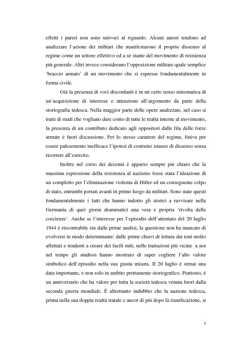 Anteprima della tesi: La resistenza militare al nazismo nella storiografia tedesca, Pagina 2