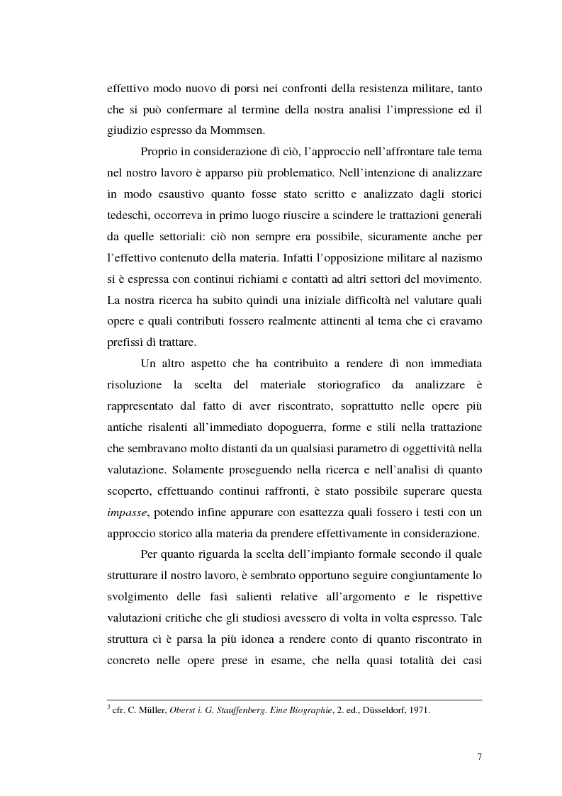Anteprima della tesi: La resistenza militare al nazismo nella storiografia tedesca, Pagina 5