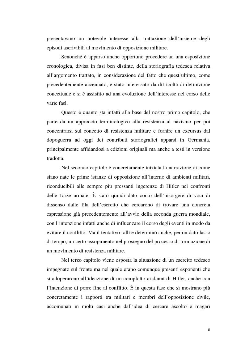 Anteprima della tesi: La resistenza militare al nazismo nella storiografia tedesca, Pagina 6