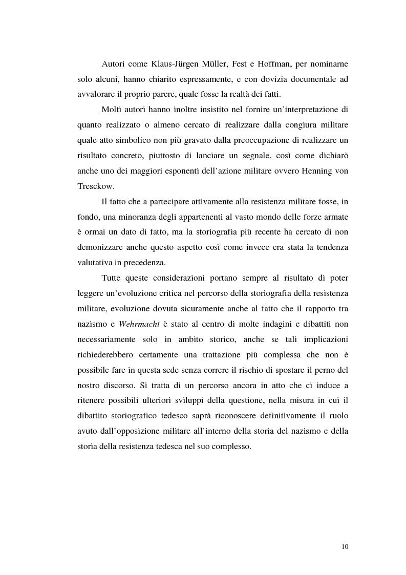 Anteprima della tesi: La resistenza militare al nazismo nella storiografia tedesca, Pagina 8