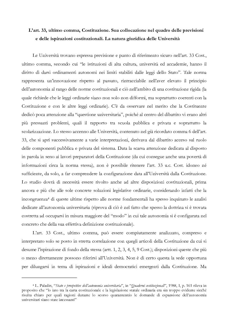 Anteprima della tesi: L'autonomia finanziaria e contabile delle Università. Un caso pratico: il Politecnico di Milano, Pagina 5