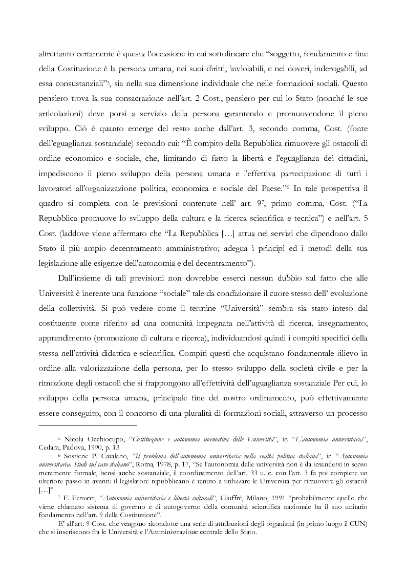 Anteprima della tesi: L'autonomia finanziaria e contabile delle Università. Un caso pratico: il Politecnico di Milano, Pagina 6