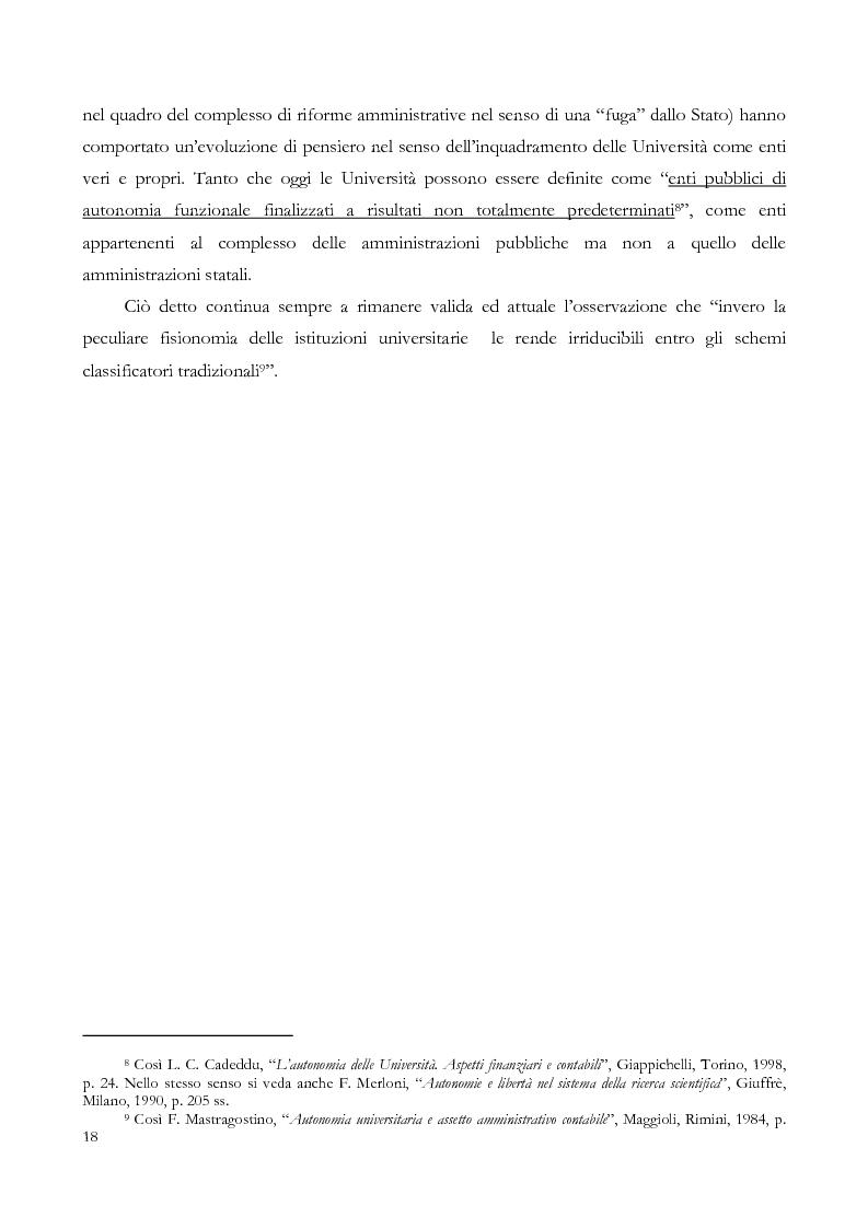 Anteprima della tesi: L'autonomia finanziaria e contabile delle Università. Un caso pratico: il Politecnico di Milano, Pagina 8