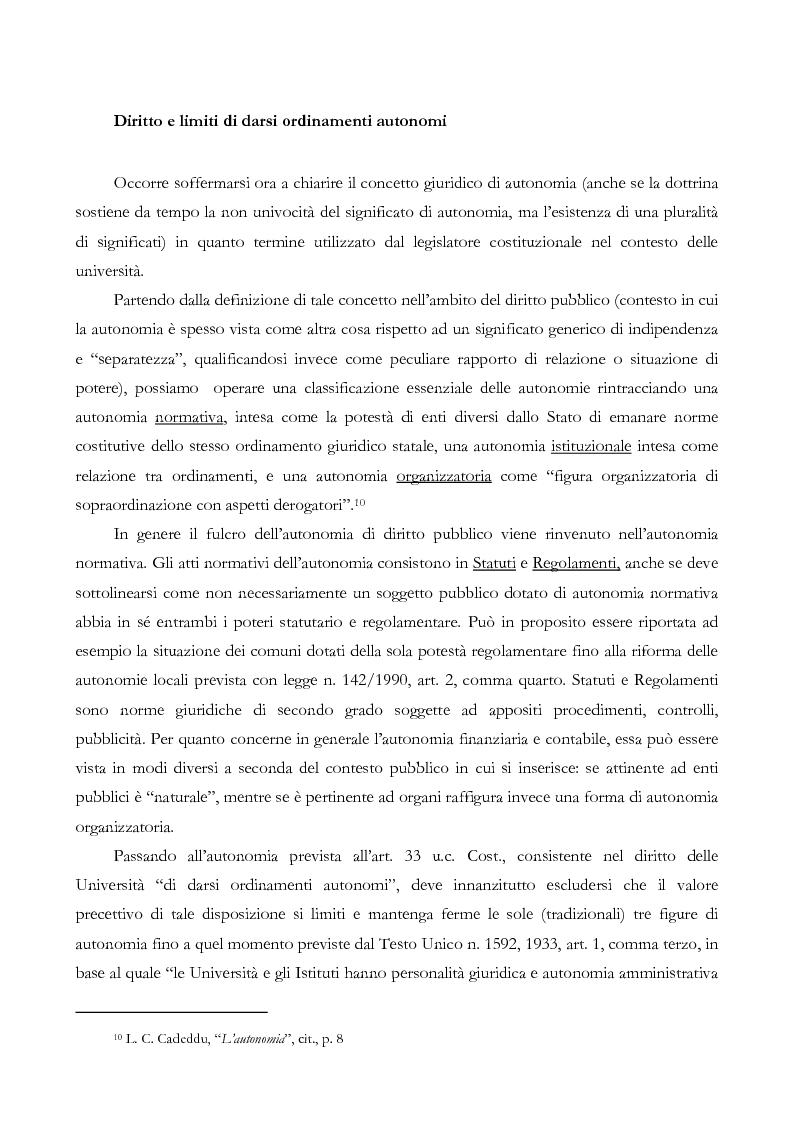 Anteprima della tesi: L'autonomia finanziaria e contabile delle Università. Un caso pratico: il Politecnico di Milano, Pagina 9