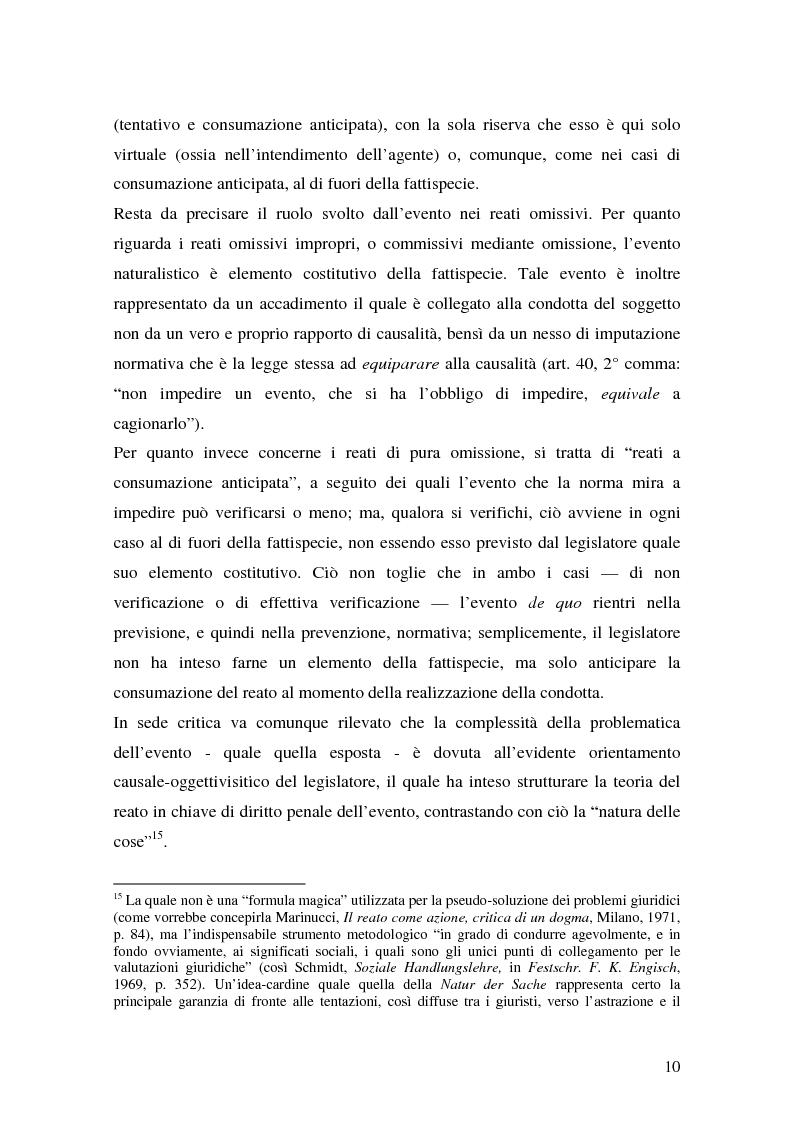 Anteprima della tesi: I delitti aggravati dall'evento, Pagina 10