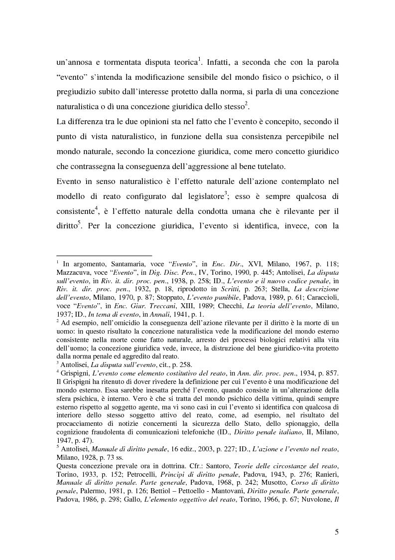 Anteprima della tesi: I delitti aggravati dall'evento, Pagina 5