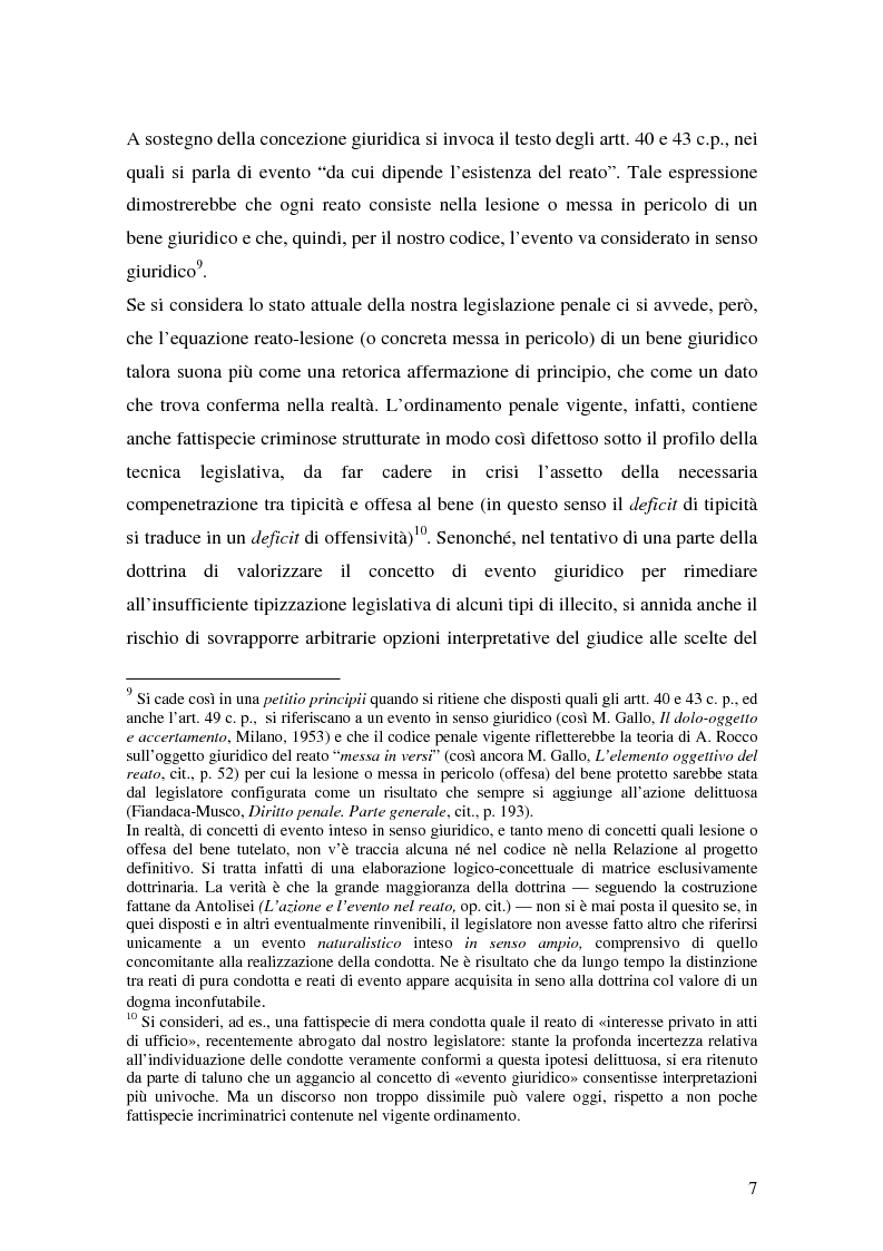 Anteprima della tesi: I delitti aggravati dall'evento, Pagina 7