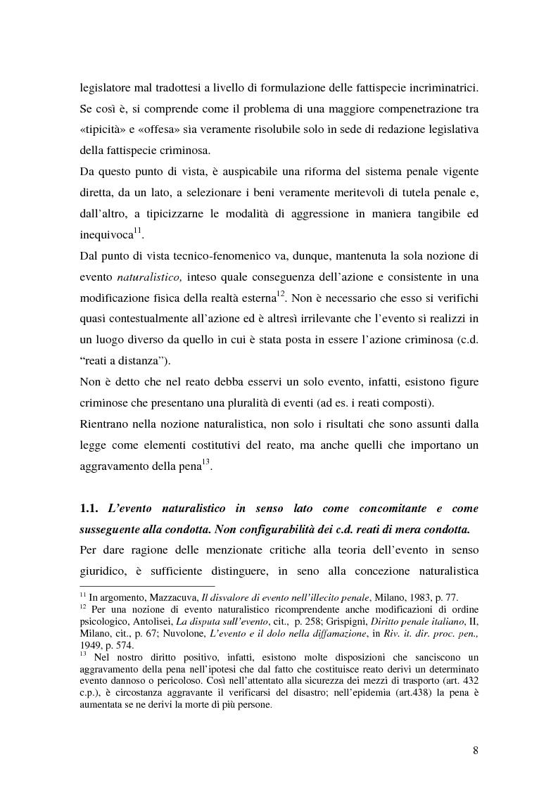 Anteprima della tesi: I delitti aggravati dall'evento, Pagina 8