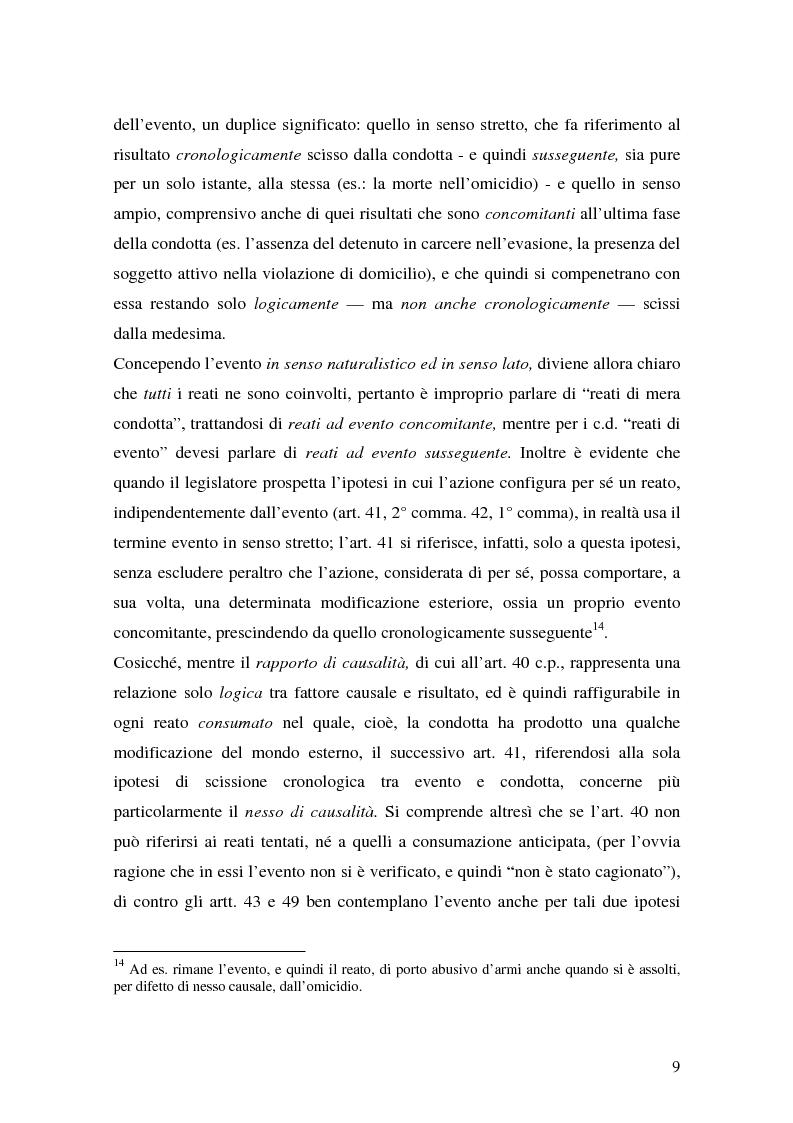 Anteprima della tesi: I delitti aggravati dall'evento, Pagina 9