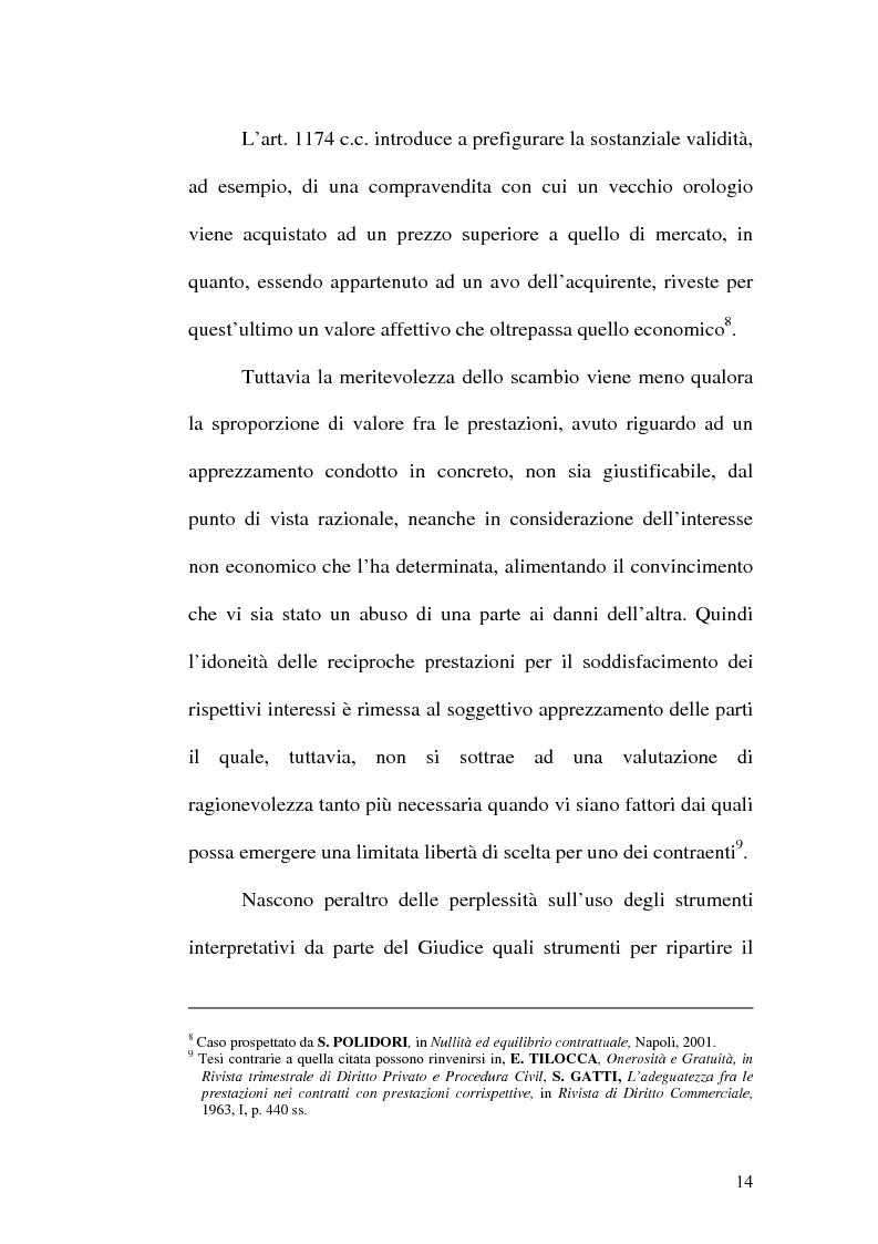 Anteprima della tesi: Equilibrio tra le prestazioni e giustizia nel contratto - Riflessioni intorno all'art. 7 del D.lgs. n. 231 del 2002, Pagina 11