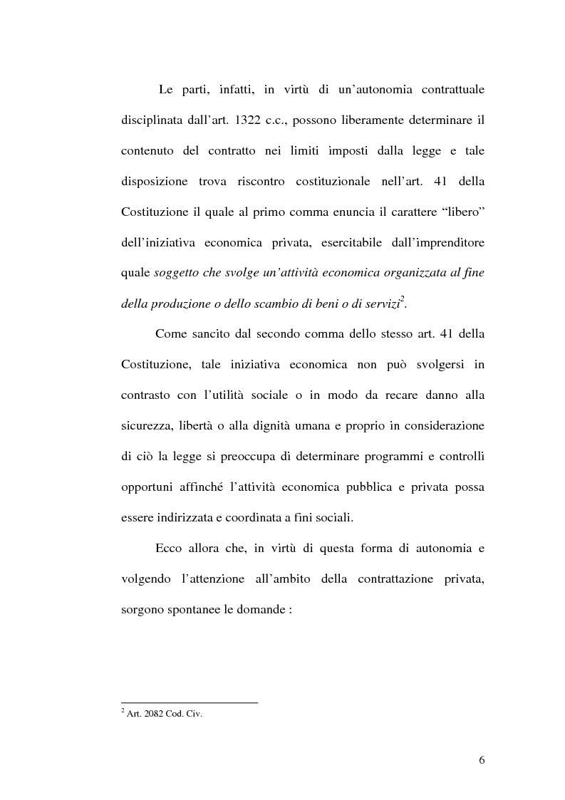 Anteprima della tesi: Equilibrio tra le prestazioni e giustizia nel contratto - Riflessioni intorno all'art. 7 del D.lgs. n. 231 del 2002, Pagina 3