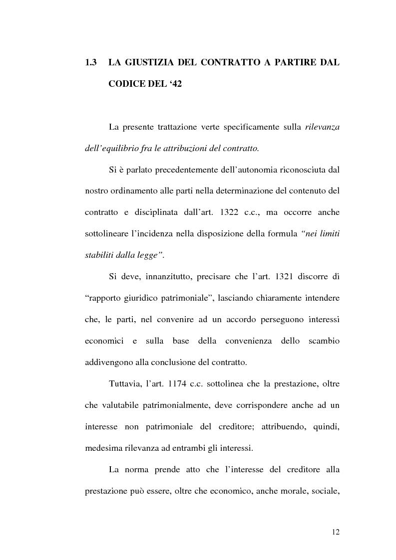 Anteprima della tesi: Equilibrio tra le prestazioni e giustizia nel contratto - Riflessioni intorno all'art. 7 del D.lgs. n. 231 del 2002, Pagina 9