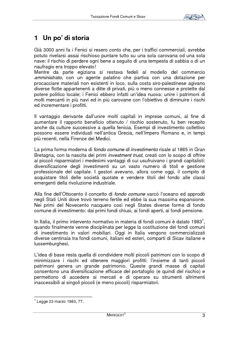 Anteprima della tesi: Tassazione Fondi Comuni e Sicav, Pagina 3
