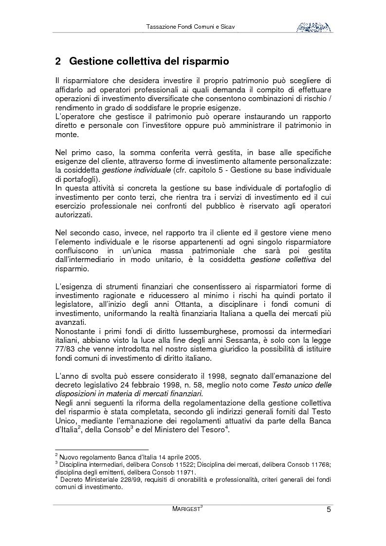 Anteprima della tesi: Tassazione Fondi Comuni e Sicav, Pagina 5