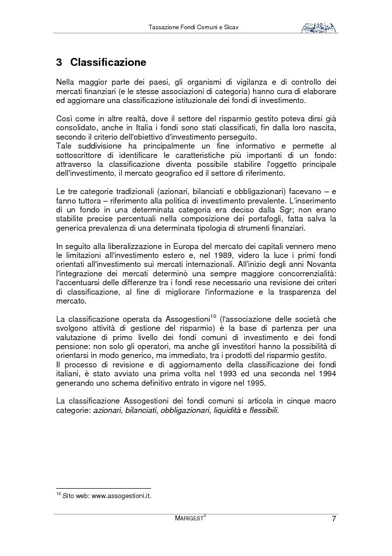 Anteprima della tesi: Tassazione Fondi Comuni e Sicav, Pagina 7