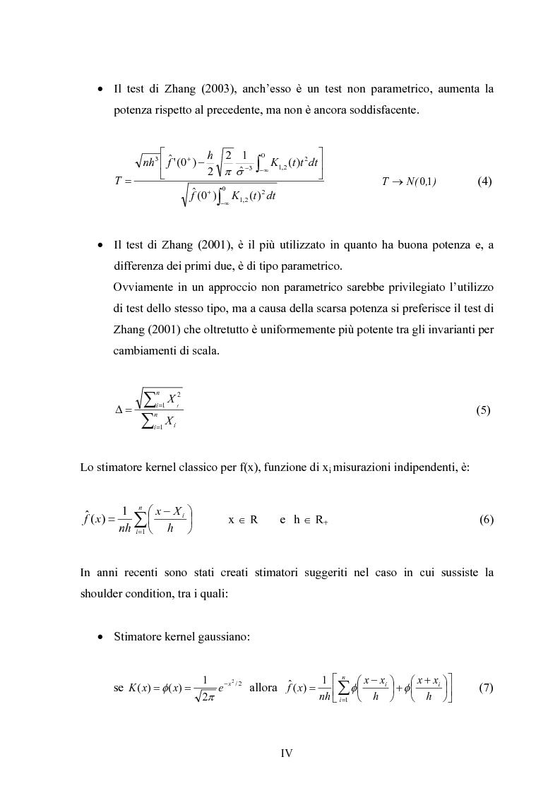 """Anteprima della tesi: Metodi """"Kernel"""" per la stima della densità di una popolazione biologica nel campionamento """"Line Transect"""", Pagina 4"""