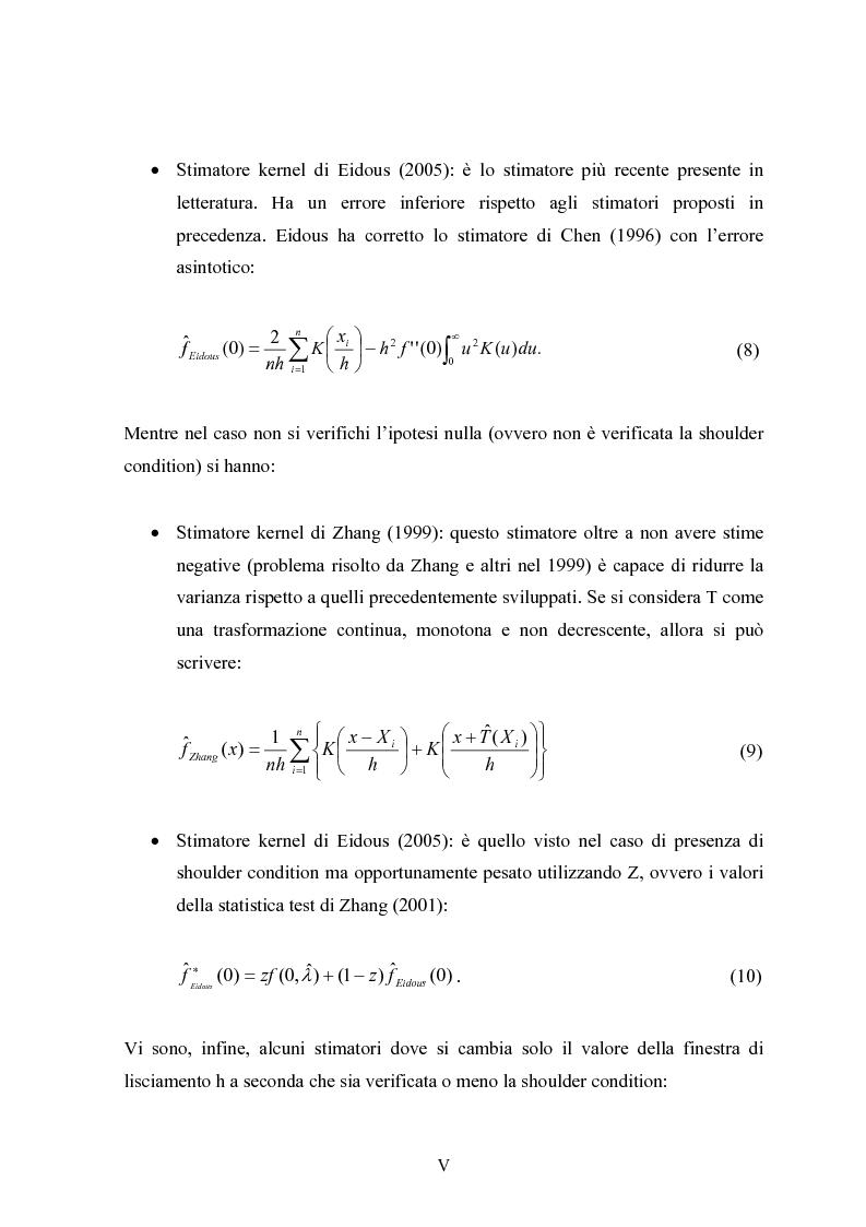 """Anteprima della tesi: Metodi """"Kernel"""" per la stima della densità di una popolazione biologica nel campionamento """"Line Transect"""", Pagina 5"""