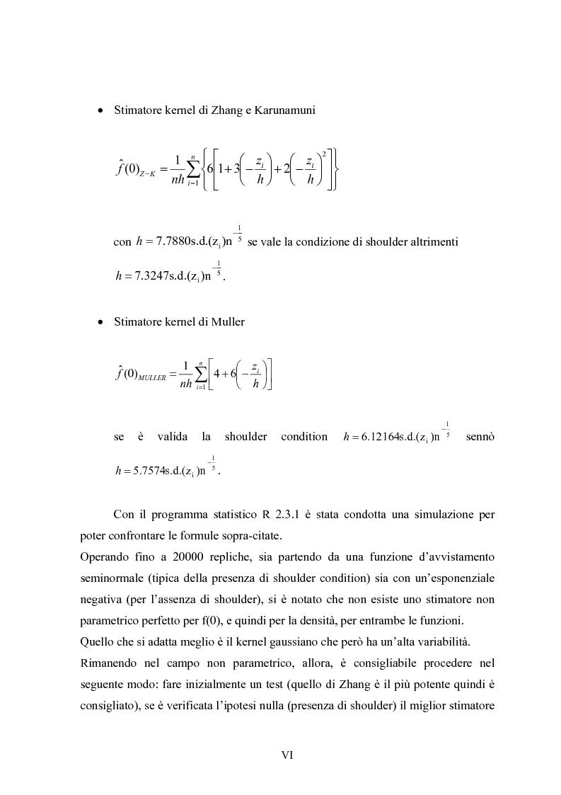 """Anteprima della tesi: Metodi """"Kernel"""" per la stima della densità di una popolazione biologica nel campionamento """"Line Transect"""", Pagina 6"""