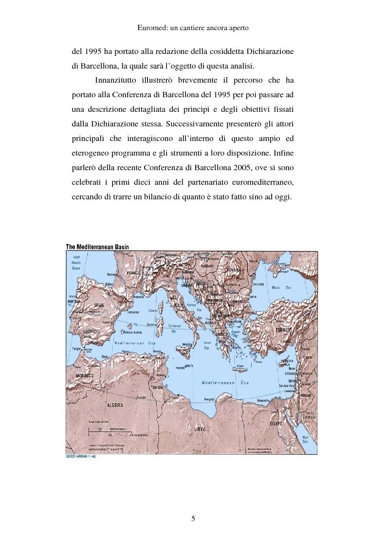 Anteprima della tesi: EUROMED: un cantiere ancora aperto, Pagina 3