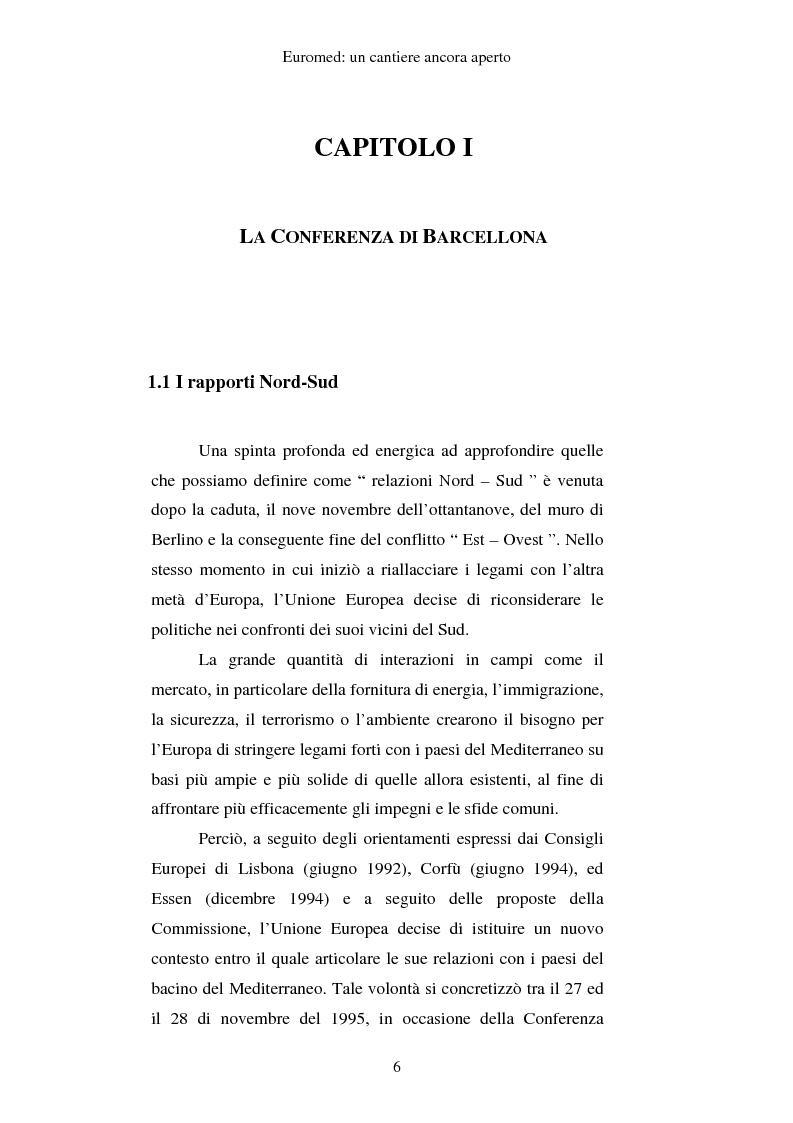Anteprima della tesi: EUROMED: un cantiere ancora aperto, Pagina 4