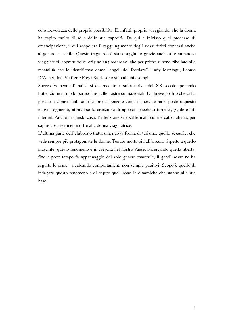 Anteprima della tesi: Turismo femminile: dalle viaggiatrici dell'antichità alle turiste sessuali di oggi, Pagina 2