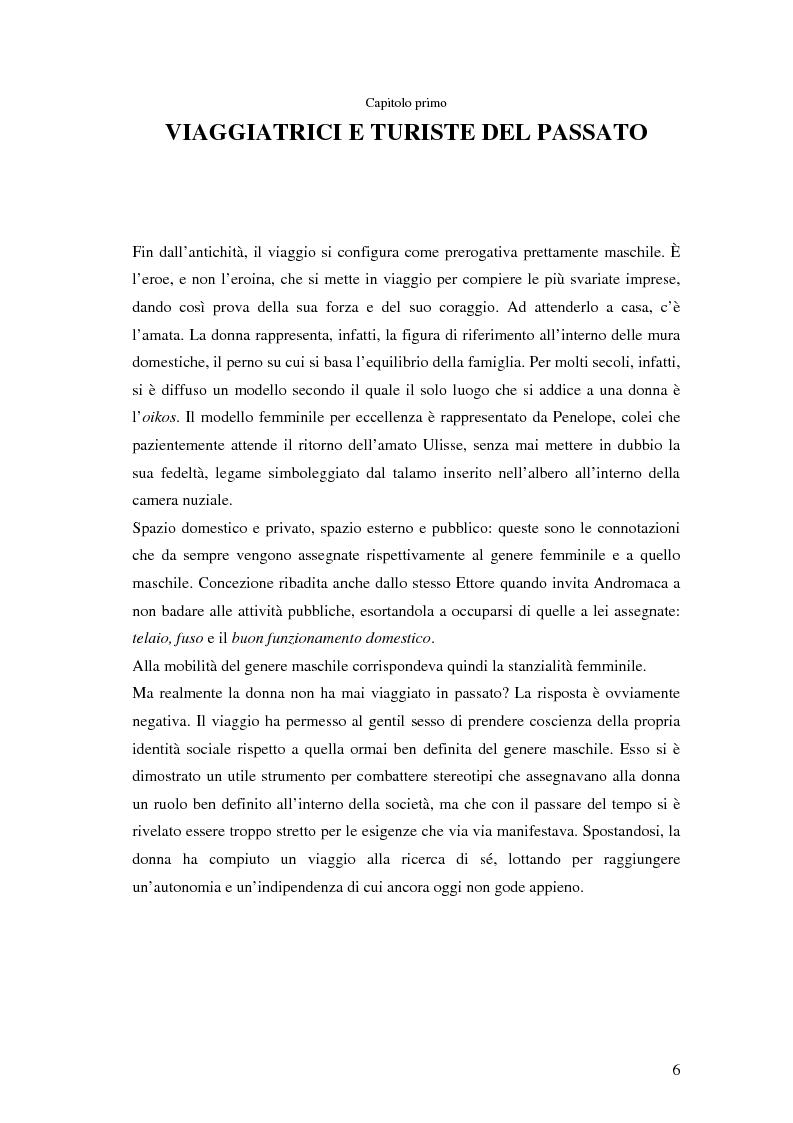 Anteprima della tesi: Turismo femminile: dalle viaggiatrici dell'antichità alle turiste sessuali di oggi, Pagina 3
