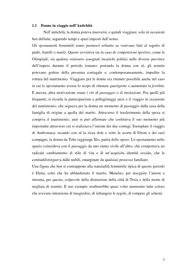 Anteprima della tesi: Turismo femminile: dalle viaggiatrici dell'antichità alle turiste sessuali di oggi, Pagina 4