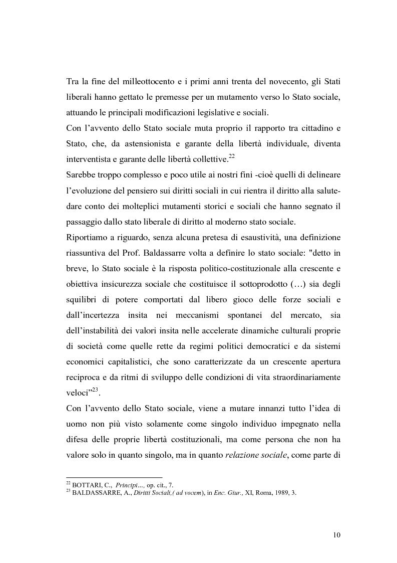 Anteprima della tesi: La salute come diritto fondamentale e interesse collettivo, Pagina 10