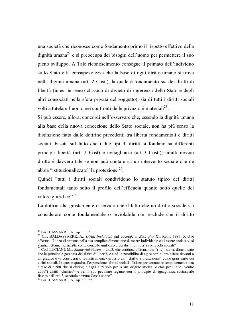 Anteprima della tesi: La salute come diritto fondamentale e interesse collettivo, Pagina 11