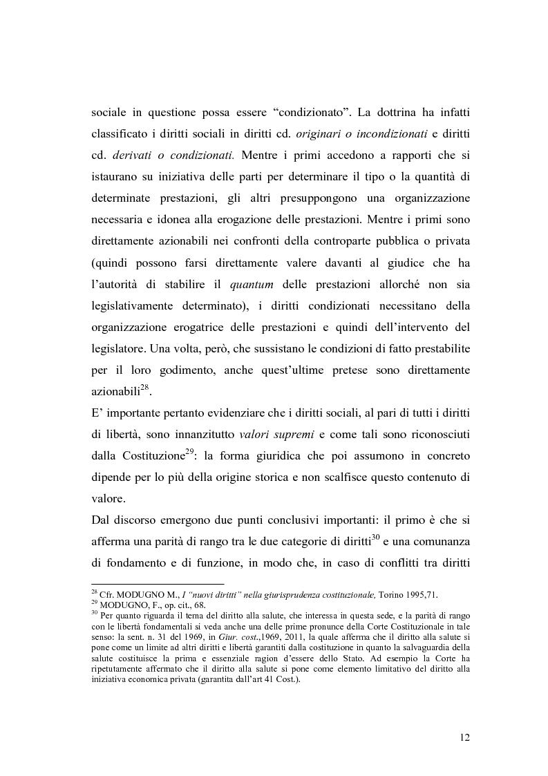 Anteprima della tesi: La salute come diritto fondamentale e interesse collettivo, Pagina 12
