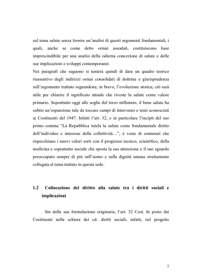 Anteprima della tesi: La salute come diritto fondamentale e interesse collettivo, Pagina 2