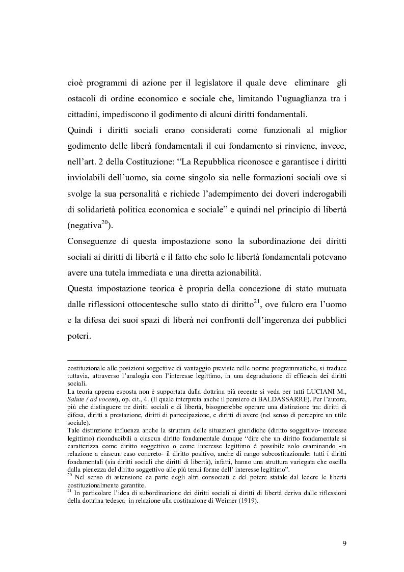 Anteprima della tesi: La salute come diritto fondamentale e interesse collettivo, Pagina 9
